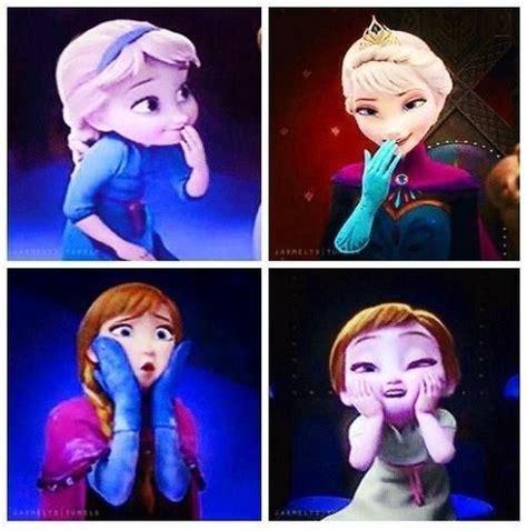 frozen anna and elsa silly faces disney pinterest