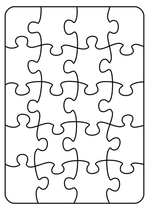 Puzzle Template 20 Pieces clipart jigsaw 20