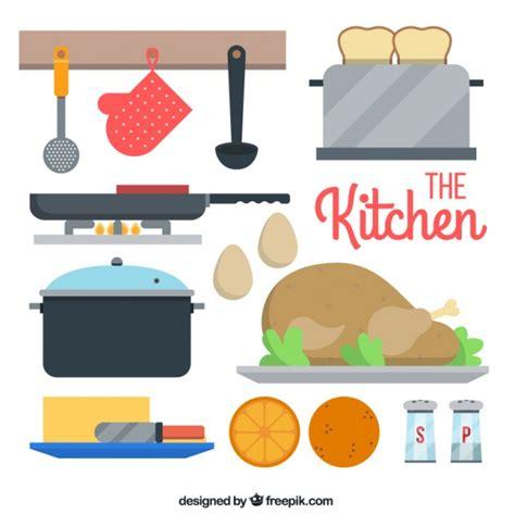 imagenes vectores cocina set plano de utensilios de cocina descargar vectores gratis
