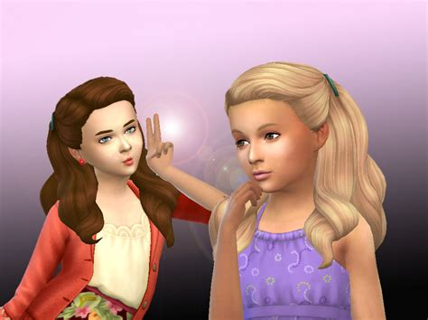 girl child hair sims 4 my stuff pulled up curls for girls