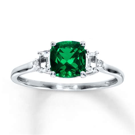 lab created emerald ring lab created sapphires 10k