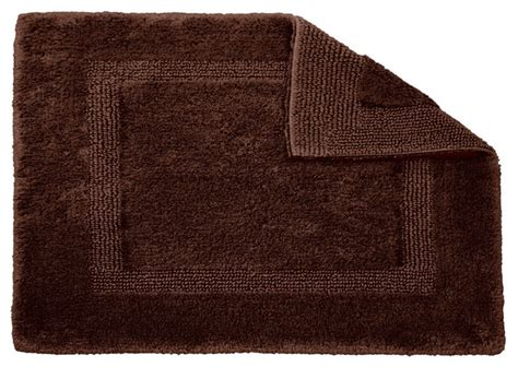 Brown Bathroom Rugs Habidecor Reversible Brown Bath Rug Small Traditional Bath Mats By Flandb