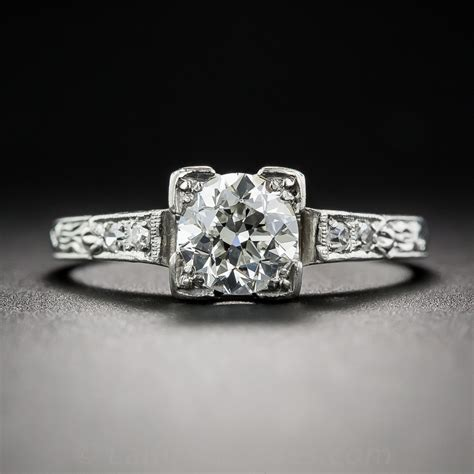 72 carat solitaire vintage engagement ring