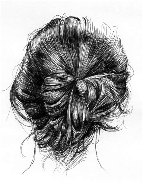 how to draw doodle hair black and white hair drawing