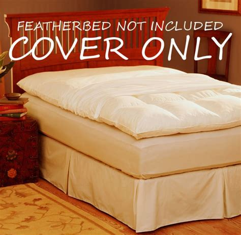 feather bed cover pacific coast feather bed 100 cotton protector cover with