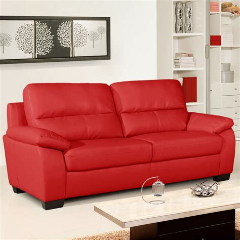 red leather loveseats artena vibrant red leather sofa collection