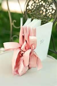 Ribbon on programs wedding programs ribbons and bows