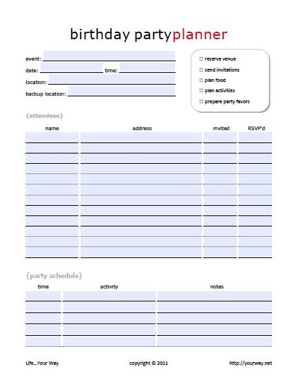 birthday checklist template birthday planning checklist template sanjonmotel