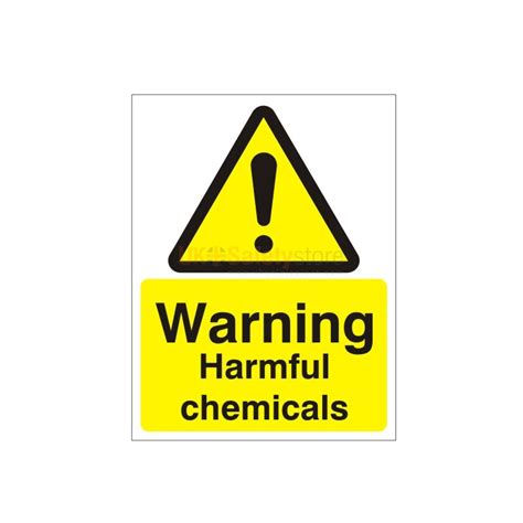 Next Wall Sticker warning harmful chemicals sign safety signs uk safety