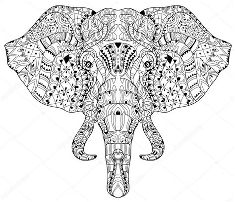 doodle elephant elephant doodle on white vector sketch stock