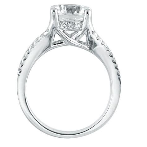Trellis Setting Mazal Engagement Ring In 4 Prong Trellis Setting