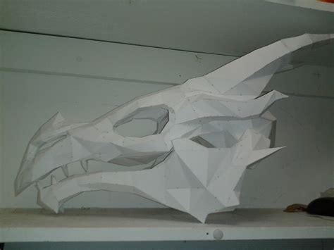 Papercraft For Sale - skyrim skull by nachtruine on deviantart