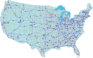 map united states highways map us interstate system