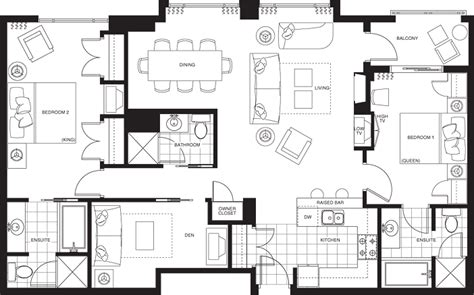 two bedroom plus den apartment floor plan oaks of lake george pan pacific whistler village centre hotel