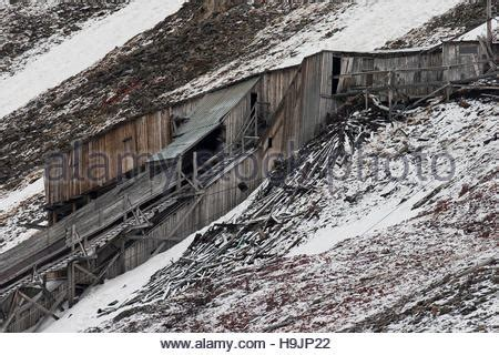Dilapidated Buildings Of Deserted Russian Mining