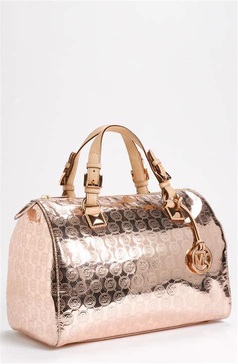 Mxxhael Kors Gold michael michael kors grayson large satchel in gold