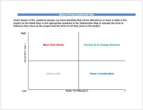 Stakeholder Analysis Template 13 Exles For Excel Word And Pdf Free Stakeholder Map Template