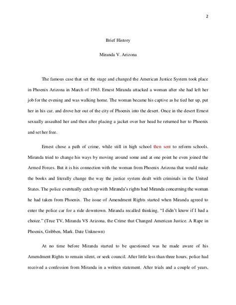 Miranda V Arizona Essay by Miranda V Arizona Essay Websitereports243 Web Fc2