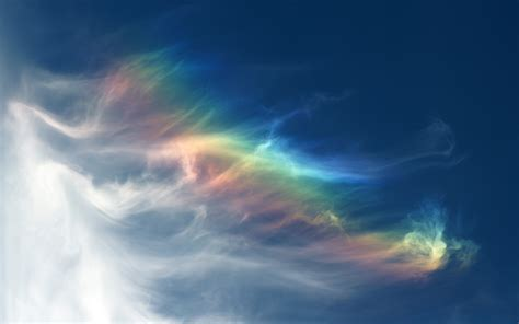 What Causes The Northern Lights Sky Clouds Rainbow Spectrum Color Wallpaper 1920x1200