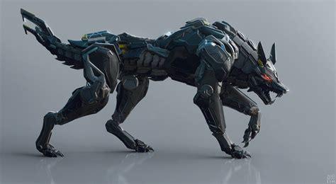 Umakuka 3d Robot Tiger black wolf by andrew lim robotic cyborg 3d cgsociety