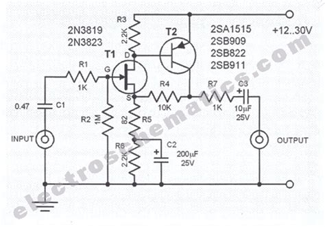 fet transistor bfw11 audio prelifiers projects and circuit