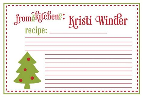 printable holiday recipe card templates 6 best images of printable recipe cards christmas free