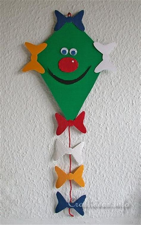 Paper Kite - free fall paper craft for friendly kite decoration