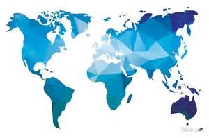 Geometric Duvet Covers Quot World Map In Geometric Triangle Pattern Design Quot Art