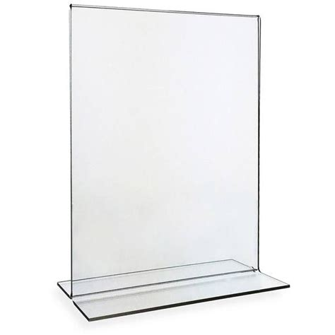 clear plastic table sign holders acrylic table tent stock table tent with color imprint