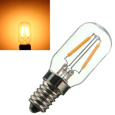 Refrigerator Light Bulb Led E14 2w Vintage Edison Cob Led L Bulb Refrigerator Fridge Light 110 220v Ebay