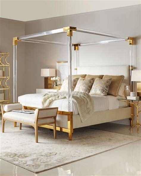 brass canopy bed acrylic canopy brass corners bed