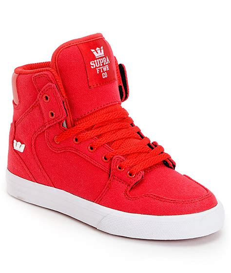 high top shoes for supra vaider canvas high top skate shoes zumiez