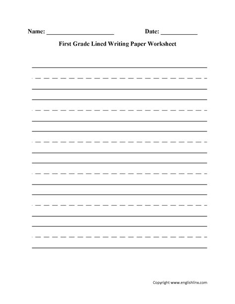 printable worksheets for kindergarten and 1st grade writing worksheets lined writing paper worksheets