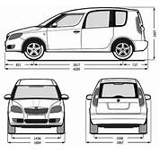 Skoda Roomster Dimensions Fhoto