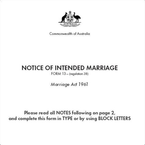 Transfer Letter On Marriage Ground The Notice Of Intended Marriage Form The Noim Form 13