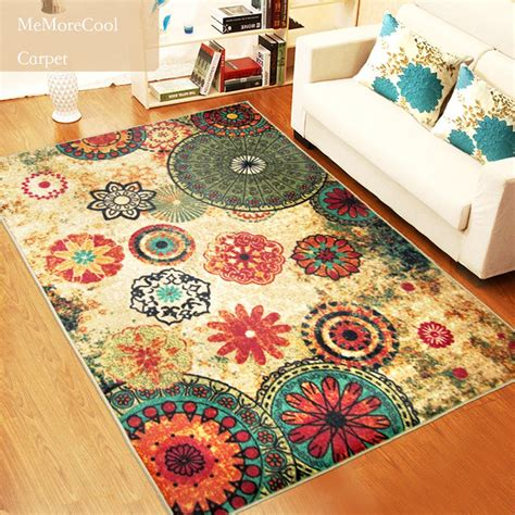 room rug retro living room rug floor carpet home decor washable bohemian fashion design ebay