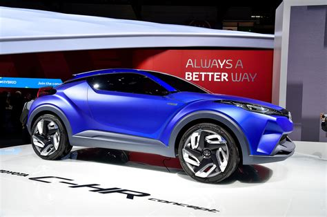 toyota c hr concept crossover unveiled before auto show
