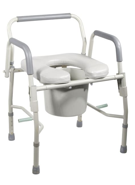 bed side commode drive medical steel drop arm bedside commode with padded
