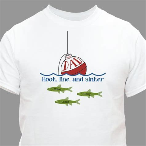 Personalized Father's Day Fishing T Shirt   GiftsForYouNow