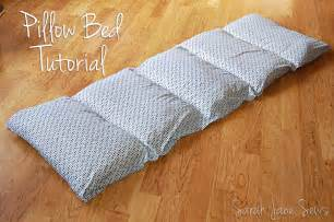 sews tutorial pillow bed from xl sheet