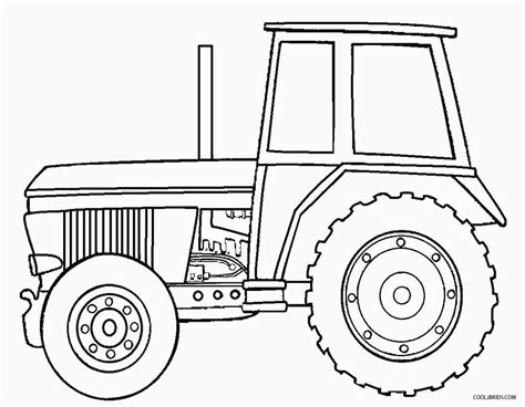 tractor template printable deere tractor coloring pages
