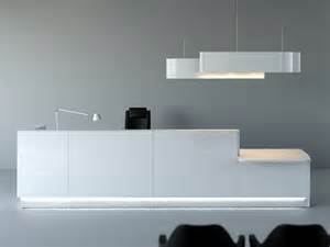 Office Desk Curved Linea Reception Desk With Built In Lights By Mdd