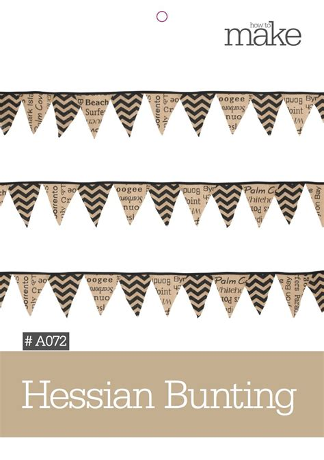 pattern paper lincraft hessian bunting a072 general craft lincraft