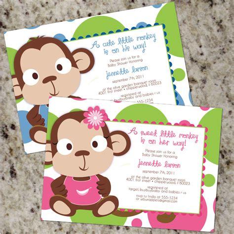 Baby Monkey For Baby Shower by Monkey Baby Shower Boy