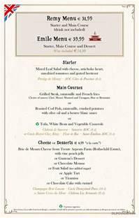 Traditional English Kitchen - bistrot chez r 233 my menu dlp guide disneyland paris restaurants dining places to eat