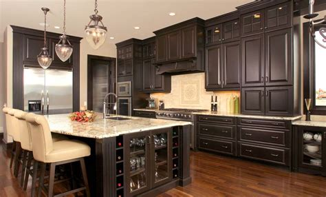 Kitchen Cabinet Stains Improving Modern Interior Black Stained Kitchen Cabinets