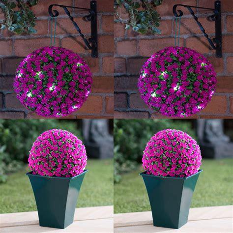 topiary sphere solar power 28cm topiary sphere 20 leds lights garden