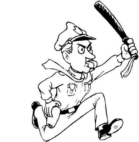Can You Be A Officer With A Criminal Record Officer Run After Criminal Coloring Page Netart