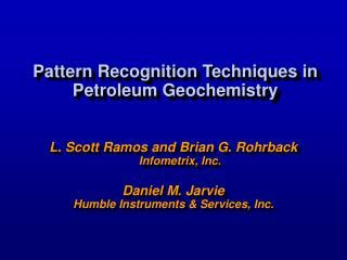pattern recognition techniques definition ppt 330023 applied geochemistry lab powerpoint