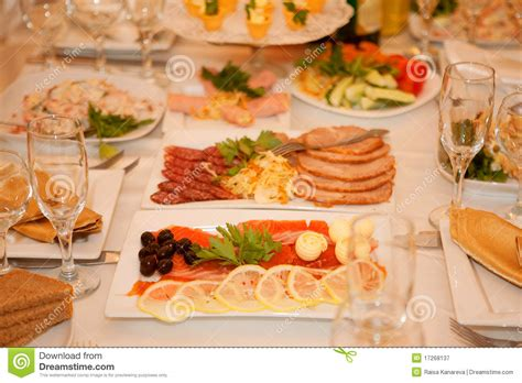 Banquette Food by Banquet Table With Food Stock Image Image Of Meal